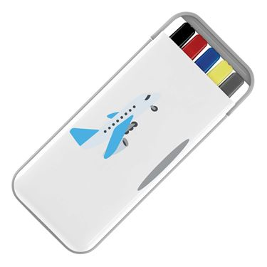 Picture of Emoji Airplane Arriving Stationery Set