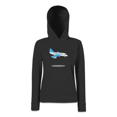 Picture of Emoji Airplane Arriving Womens Hoodie