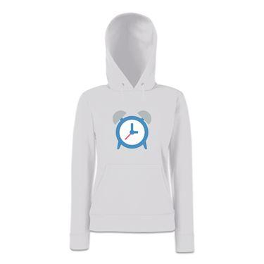 Picture of Emoji Alarm Clock Womens Hoodie