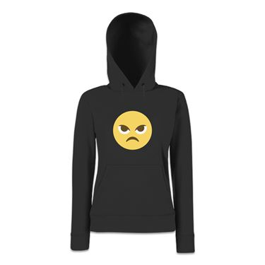 Picture of Emoji Angry Face Womens Hoodie
