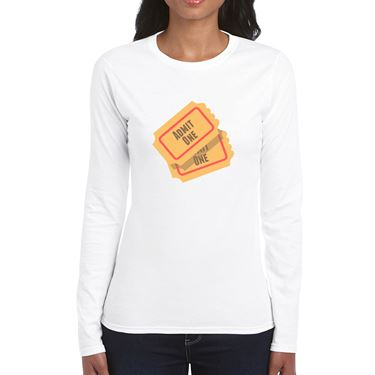 Picture of Emoji Admission Tickets Womens Long Sleeve Tshirt