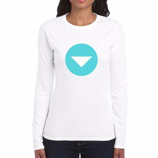 Emoji Down Pointing Small Red Triangle Womens Long Sleeve Tshirt