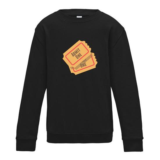 Picture of Emoji Admission Tickets Womens Sweatshirt