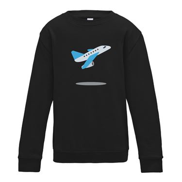 Picture of Emoji Airplane Departure Womens Sweatshirt