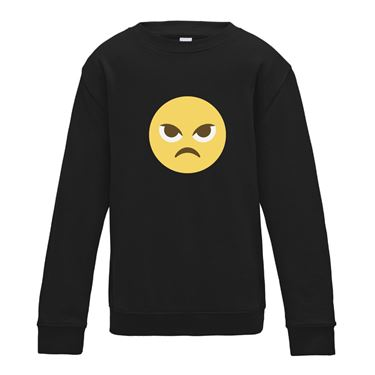 Picture of Emoji Angry Face Womens Sweatshirt