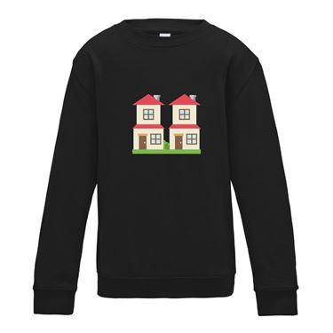 Picture of Emoji House Buildings Womens Sweatshirt