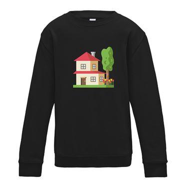 Picture of Emoji House With Garden Womens Sweatshirt
