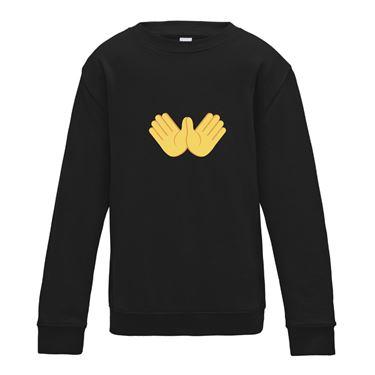 Picture of Emoji Open Hands Sign Womens Sweatshirt