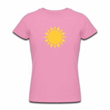 Picture of Emoji Black Sun With Rays Womens Tshirt