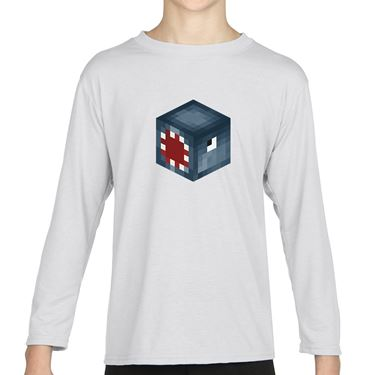 Picture of Ballistic Squid Player Skin 3D Head Left Pose Boys Long Sleeve Tshirt