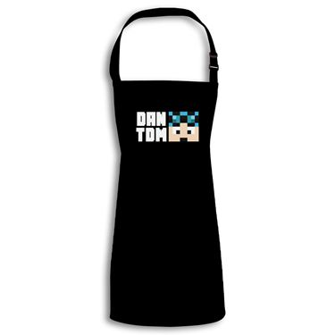Picture of Dantdm Dan The Diamond Minecart Blue Hair Player Skin Face And White Text Child Apron
