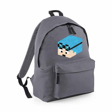 Picture of Dantdm Dan The Diamond Minecart Blue Hair Player Skin 3D Head Left Pose Maxi Backpack