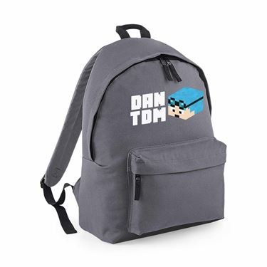 Picture of Dantdm Dan The Diamond Minecart Blue Hair Player Skin 3D Head Left Pose And White Text Maxi Backpack