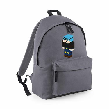 Picture of Dantdm Dan The Diamond Minecart Blue Hair Player Skin 3D Standing Left Pose Maxi Backpack