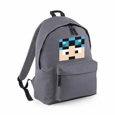 Picture of Dantdm Dan The Diamond Minecart Blue Hair Player Skin Face Maxi Backpack