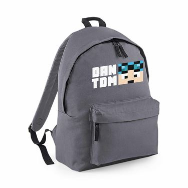 Picture of Dantdm Dan The Diamond Minecart Blue Hair Player Skin Face And White Text Maxi Backpack