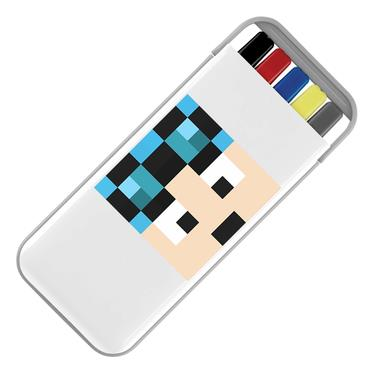 Picture of Dantdm Dan The Diamond Minecart Blue Hair Player Skin Face Stationery Set