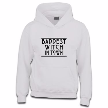 Picture of Baddest Witch In Town Boys Hoodie