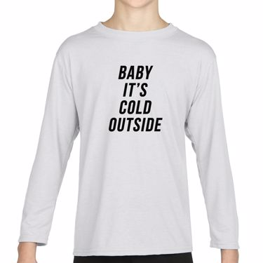 Picture of Baby Its Cold Outside Boys Long Sleeve Tshirt