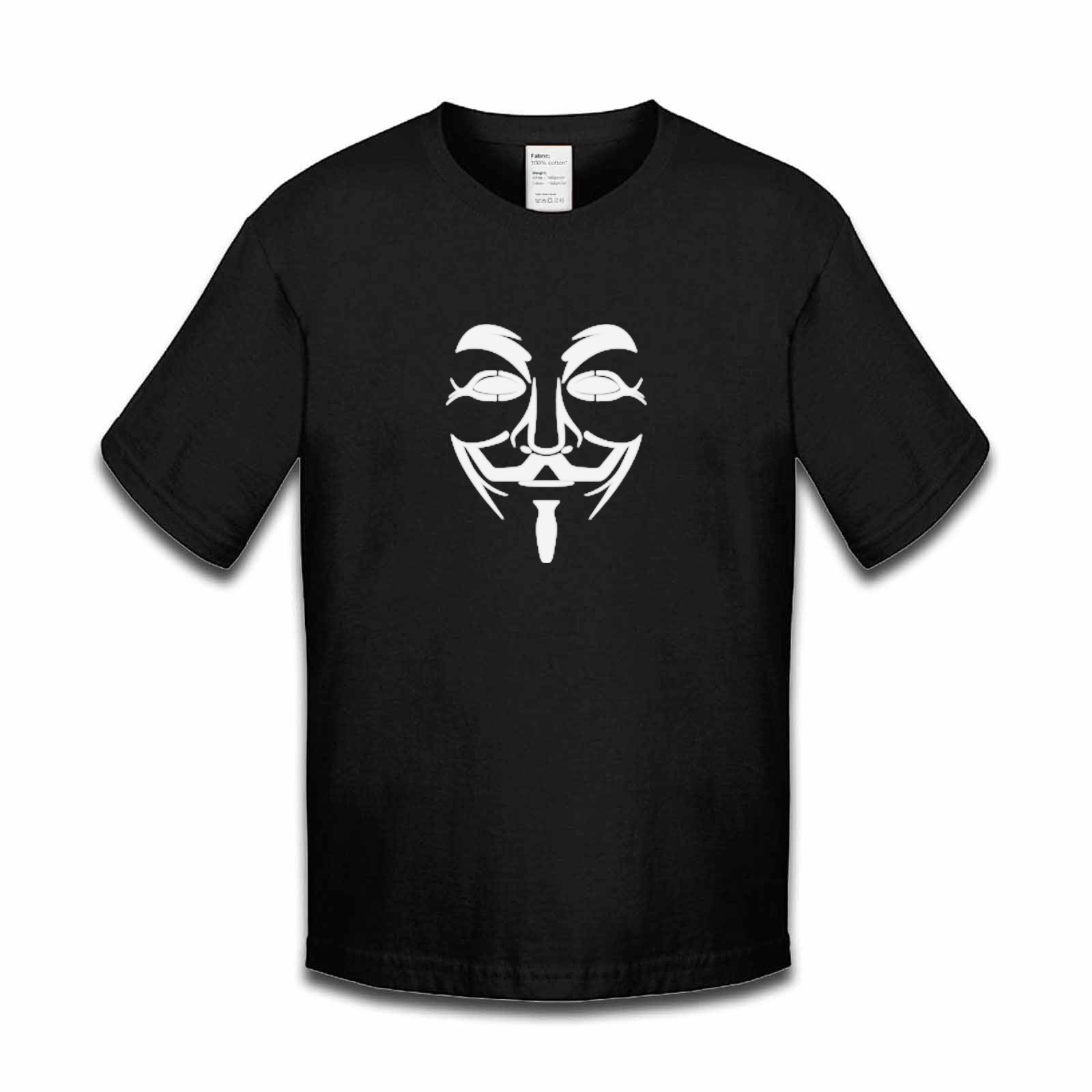 Picture of Anonymous Group Guy Fawkes Mask Boys Tshirt