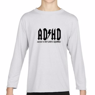 Picture of Adhd Highyway To Hey Look A Squirrel Girls Long Sleeve Tshirt