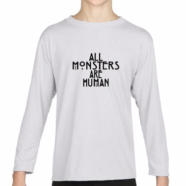 Picture of All Monsters Are Human Girls Long Sleeve Tshirt