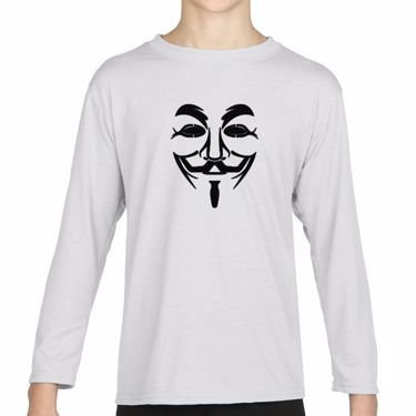 Picture of Anonymous Group Guy Fawkes Mask Girls Long Sleeve Tshirt