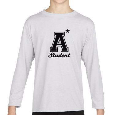 Picture of A Plus Varsity Student Girls Long Sleeve Tshirt
