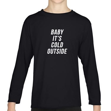 Picture of Baby Its Cold Outside Girls Long Sleeve Tshirt
