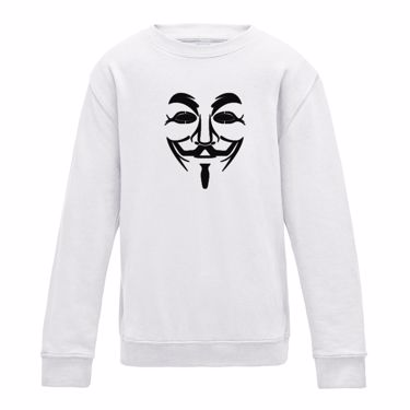 Picture of Anonymous Group Guy Fawkes Mask Girls Sweatshirt