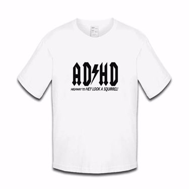 Picture of Adhd Highyway To Hey Look A Squirrel Girls Tshirt