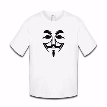Picture of Anonymous Group Guy Fawkes Mask Girls Tshirt
