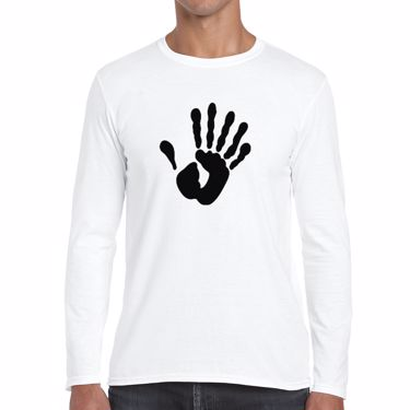 Picture of Alien Hand Six Fingers Mens Long Sleeve Tshirt