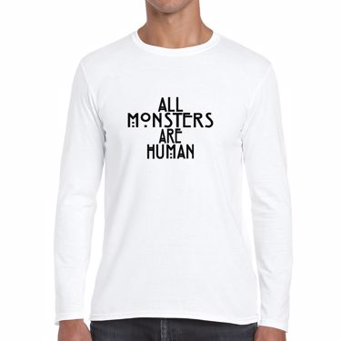 Picture of All Monsters Are Human Mens Long Sleeve Tshirt