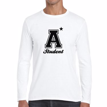 Picture of A Plus Varsity Student Mens Long Sleeve Tshirt