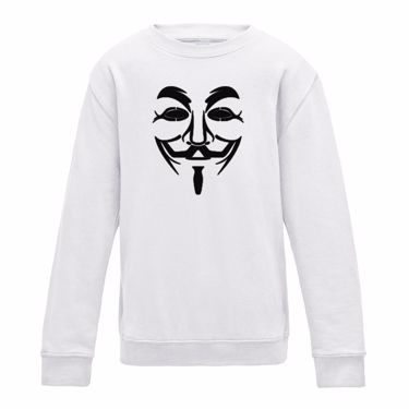 Picture of Anonymous Group Guy Fawkes Mask Mens Sweatshirt