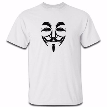 Picture of Anonymous Group Guy Fawkes Mask Mens Tshirt