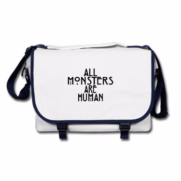 Picture of All Monsters Are Human Messenger Bag