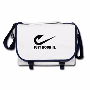 Picture of Angler Fishing Just Hook It Messenger Bag