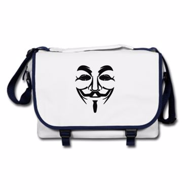 Picture of Anonymous Group Guy Fawkes Mask Messenger Bag