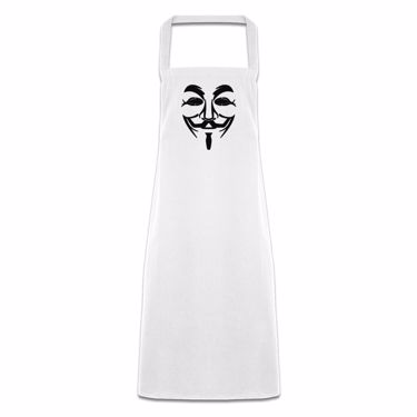 Picture of Anonymous Group Guy Fawkes Mask Pocketless Apron