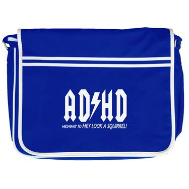 Picture of Adhd Highyway To Hey Look A Squirrel Retro Messenger Bag