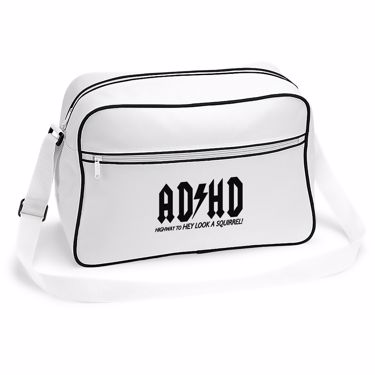 Picture of Adhd Highyway To Hey Look A Squirrel Retro Shoulder Bag