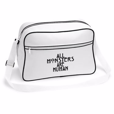 Picture of All Monsters Are Human Retro Shoulder Bag