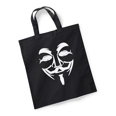 Picture of Anonymous Group Guy Fawkes Mask Reusable Bag For Life