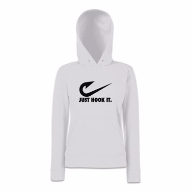 Picture of Angler Fishing Just Hook It Womens Hoodie