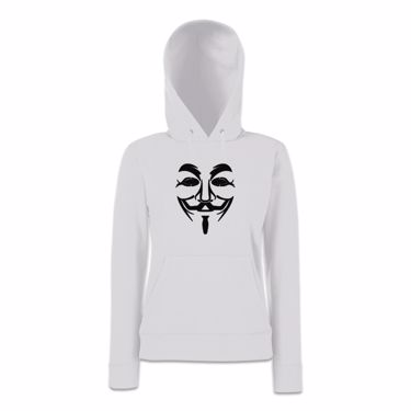 Picture of Anonymous Group Guy Fawkes Mask Womens Hoodie