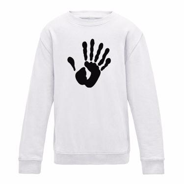 Picture of Alien Hand Six Fingers Womens Sweatshirt