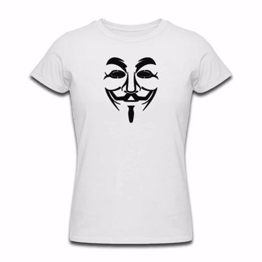 Picture of Anonymous Group Guy Fawkes Mask Womens Tshirt