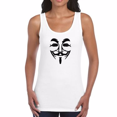 Picture of Anonymous Group Guy Fawkes Mask Womens Vest